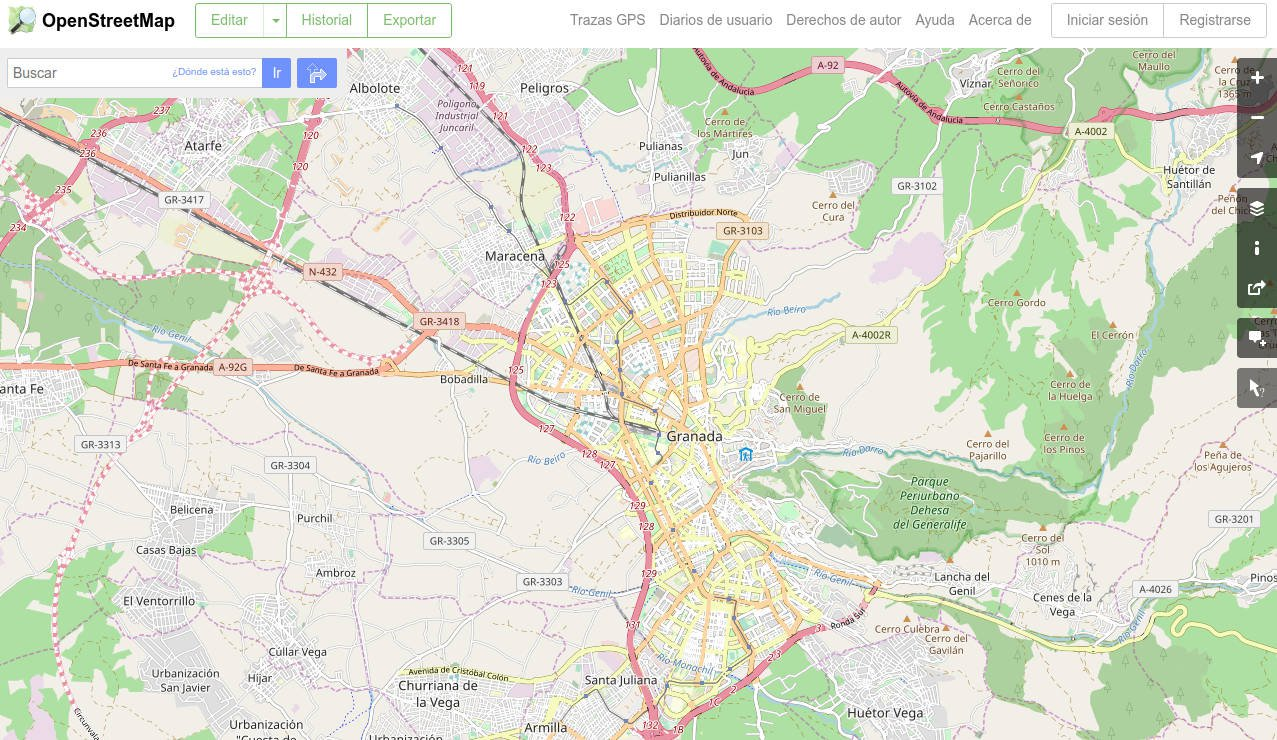 OpenStreetMap Map online screenshot