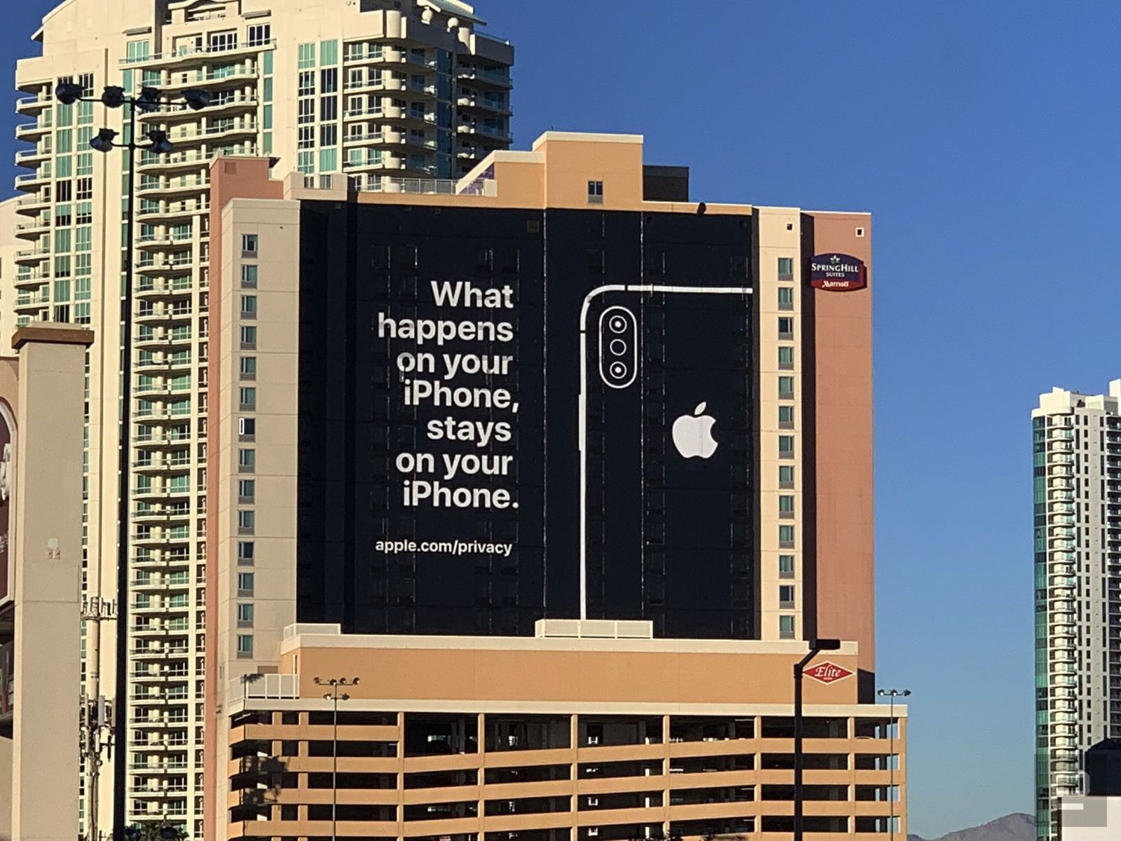 Photography of the ad on the wall near of CES in Las Vegas
